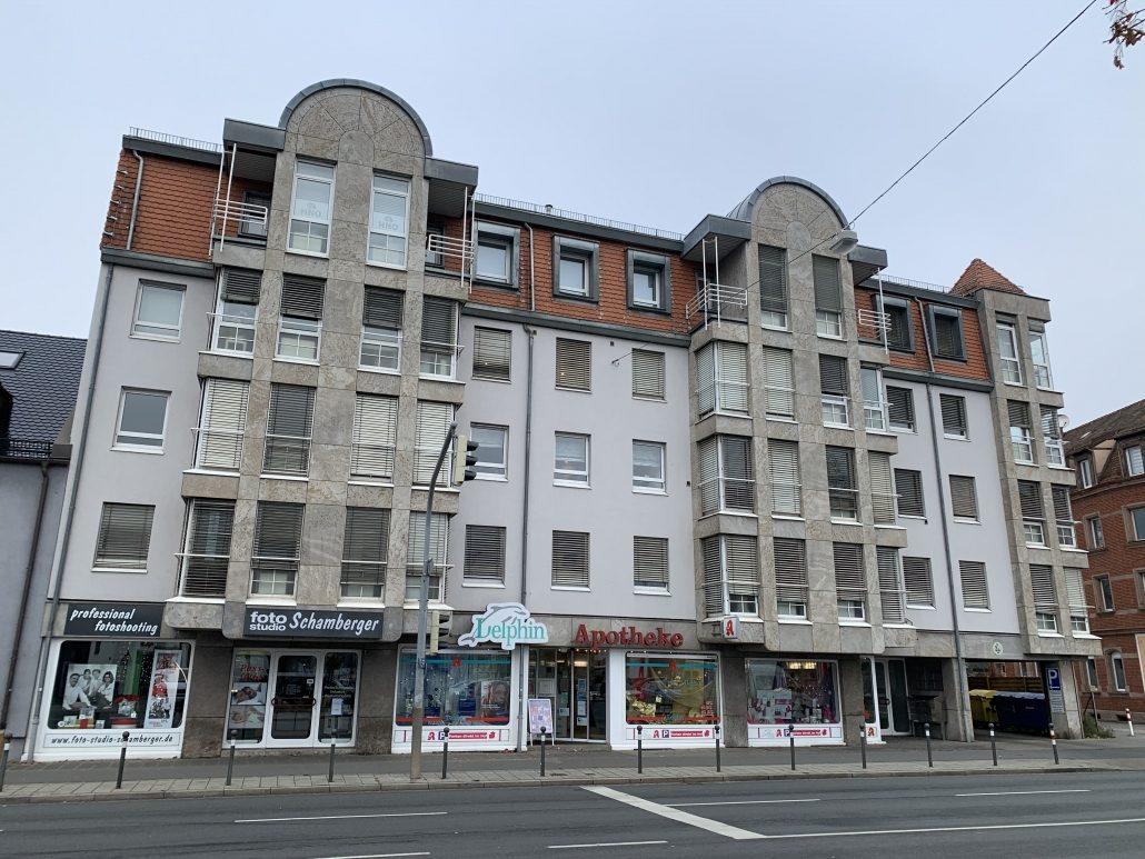 Ansicht Ärztehaus Laufamholzstraße Nürnberg Mögeldorf mit HNO-Praxis